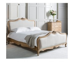 Chic Weathered 5' Bed With Natural Cotton Linen
