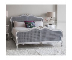 Chic 5' Cane Bed Silver